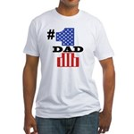 #1 Dad Fitted T-Shirt