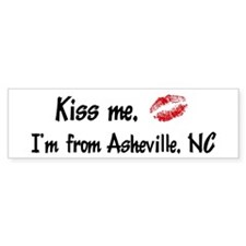 Kiss Me: Asheville Bumper Bumper Sticker