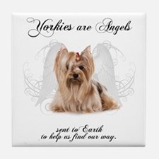 Angel Yorkie Tile Coaster