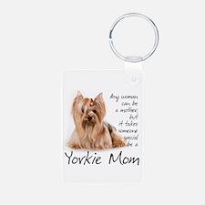 Yorkie Mom Keychains