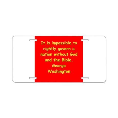 george washington Aluminum License Plate