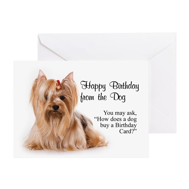 Happy Birthday From The Yorkie By Shopdoggifts