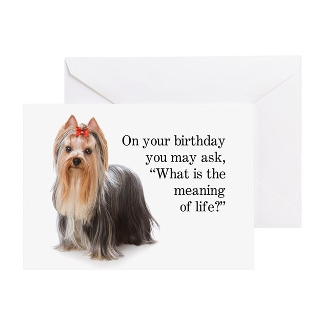 Funny Yorkie Birthday Card By Shopdoggifts