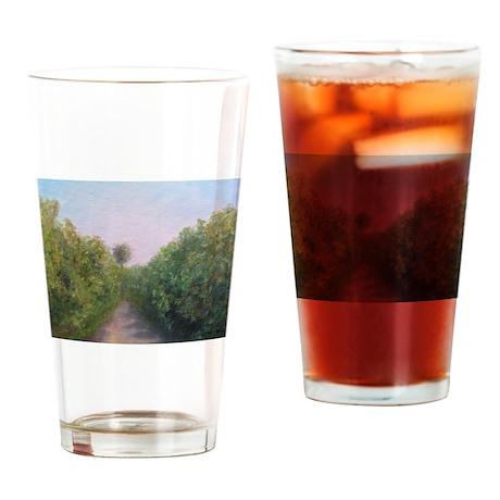 FLORIDA ORANGE GROVE Drinking Glass