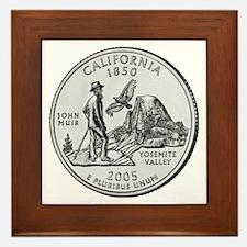 2005 California State Quarter Framed Tile