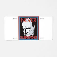 Never Surrender Aluminum License Plate