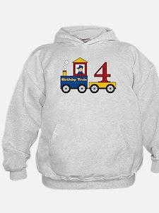 4 Year Old Birthday Train Hoodie