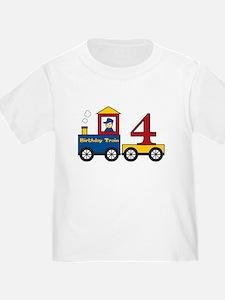 4 Year Old Birthday Train T