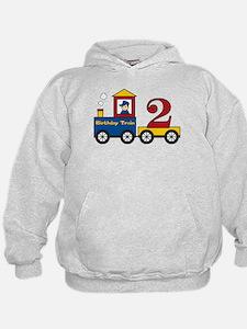 2 Year Old Birthday Train Hoodie