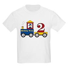 2 Year Old Birthday Train T-Shirt
