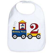 2 Year Old Birthday Train Bib