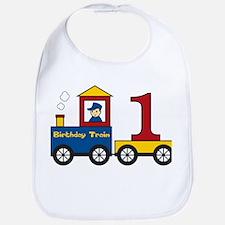 First Birthday Train Bib