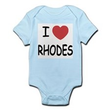 I heart rhodes Infant Bodysuit