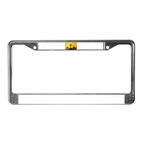 Crosses License Plate Frame
