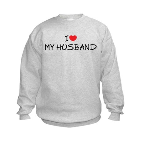 I Love My Husband Kids Sweatshirt