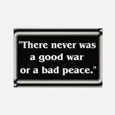 Franklin Peace Quote - Rectangle Magnet