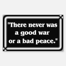 Franklin Peace Quote - Sticker (Rectangle)