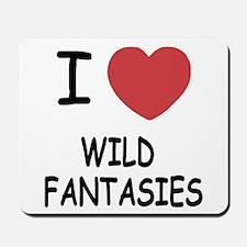 I heart wild fantasies Mousepad