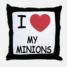 I heart my minions Throw Pillow