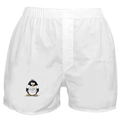 I Love Penguins penguin Boxer Shorts