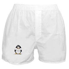 I Love Penguins penguin Boxer Shorts
