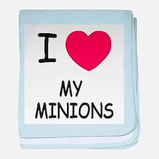 I heart my minions baby blanket