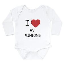 I heart my minions Long Sleeve Infant Bodysuit