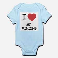 I heart my minions Infant Bodysuit