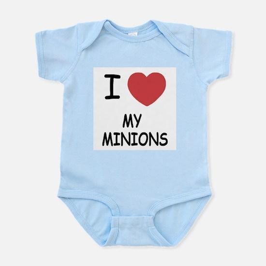 I heart my minions Infant Bodysuit