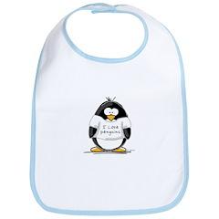 I Love Penguins penguin Bib