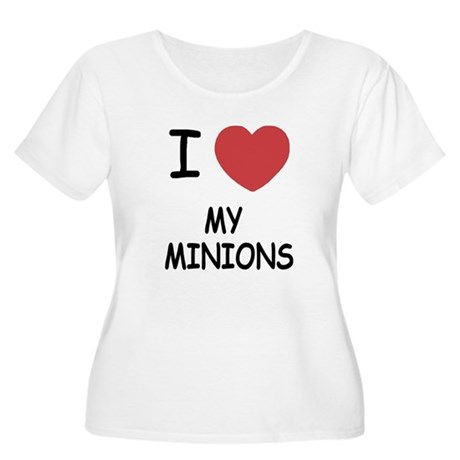 I heart my minions Women's Plus Size Scoop Neck T-