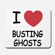 I heart busting ghosts Mousepad