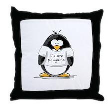 I Love Penguins penguin Throw Pillow
