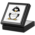I Love Penguins penguin Keepsake Box