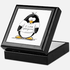 I Love Penguins penguin Keepsake Box