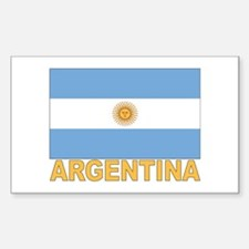 Argentina Flag Rectangle Decal