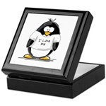 I Love Me penguin Keepsake Box