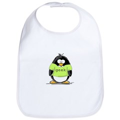 Geek penguin Bib