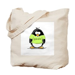 Geek penguin Tote Bag