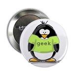 Geek penguin Button