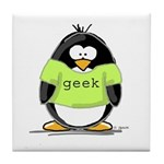 Geek penguin Tile Coaster