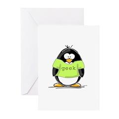 Geek penguin Greeting Cards (Pk of 10)