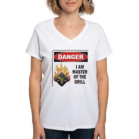 Grill Master Women's V-Neck T-Shirt