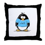 Chill penguin Throw Pillow