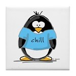 Chill penguin Tile Coaster