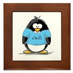 Chill penguin Framed Tile
