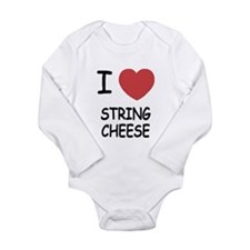 I heart string cheese Long Sleeve Infant Bodysuit