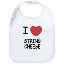 I heart string cheese Bib
