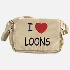 I heart loons Messenger Bag