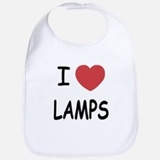 I heart lamps Bib
